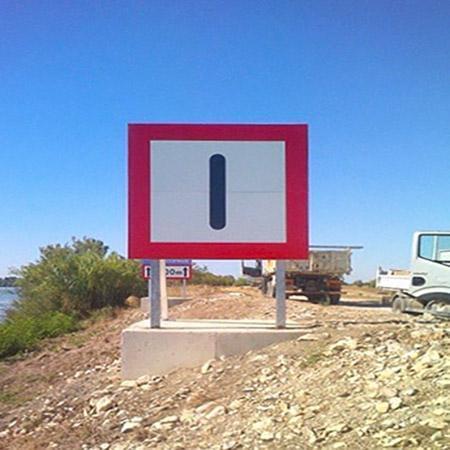 pose de panneaux de signalisation  entreprise marius sabatier
